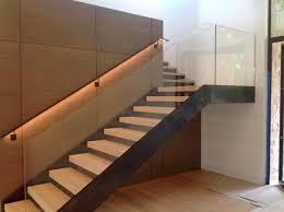 interior glass handrail system on staircase