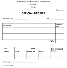 Payment Receipt Template Uk Sample Of For Cash Free Templates Word