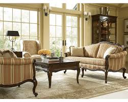 Thomasville Living Room Furniture Devereux Settee With Double Welt Trim Living Room Furniture