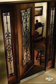wrought iron glass front entry doors mediterranean entry