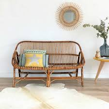 Mid century rattan bench seat rattan sofa mid century modern