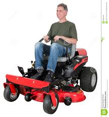 man riding lawn mower. royalty-free stock photo man riding lawn mower d
