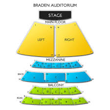 Braden Auditorium Seating Chart Braden Auditorium 2019 Seating Chart