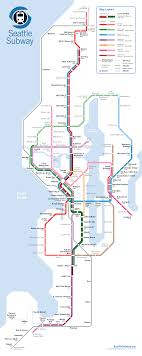 Downtown Seattle Light Rail Map Seattle Subway Drops New Expansion Map Hoping To Guide St3