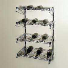 wine racks wall mounted rack shelf 4 chrome wire shelving kit additional photos bottle wine glass rack pottery barn o63 rack