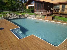 in ground pools rectangle. Rectangle Sharkline Extruder 10,000 Inground Pool With Built In Step Ground Pools I