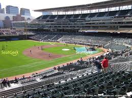 Target Field Baseball Seating Chart Target Field S View Things I Love Seat View Sports