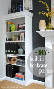 Premade Built In Bookcases How To Make A Laminate Bookcase Look Like A Built In Bookshelf