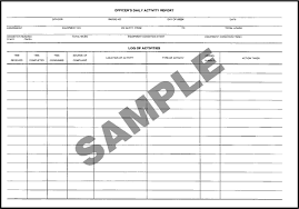 Form 112r Officers Daily Activity Report