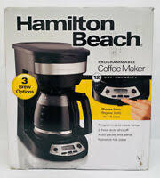 Find what you need to keep your home running. Hamilton Beach 12 Cup Programmable Coffee Maker 49465r Black Distressed Pkg 40094494651 Ebay