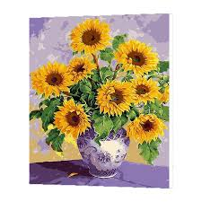 2019 wonzom sunflowers oil painting by numbers diy abstract digital picture coloring by numbers on canvas unique gift for home 2017 from hobarte