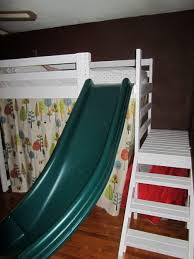 bunk bed with slide and tent. Kids Beds: Child Bunk Bed With Slide And Tent Wooden Beds Berg