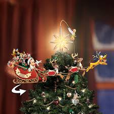 Disney Mickey And Minnie Mouse Light Up Holiday Tree Topper The Bradford Exchange Disneys Timeless Holiday Treasures