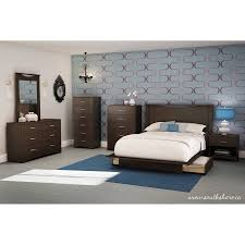South Shore Bedroom Furniture South Shore Soho Full Queen Storage Platform Bed With 2 Drawers