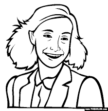 Anne Frank Coloring Page Free Anne Frank Online Coloring For