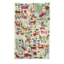 chain stitched animal themed wool area rug 5x8 from india the jungle world i