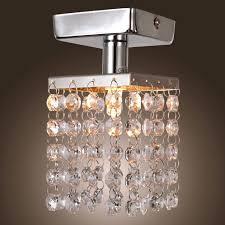locker lookz chandelier lamp light in the box mini semi flush mount in crystal with modern