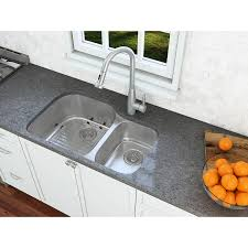 Shop Ancona Undermount Double Offset 32 In Sink With Signautre Ii