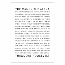 Quotes Posters And Prints The Man In The Arena Motivational Inspirational Quotes Office Decor Dorm Daring Greatly Home Decor