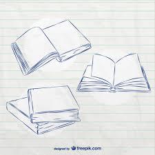 book sketches free vector