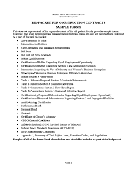 Sample Construction Contract Bid Packet For Construction Contracts Sample Forms Free Download