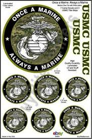 Once A Marine Always A Marine Details About Usmc Once A Marine Always A Marine Decals Med Olive Trim W White Letters