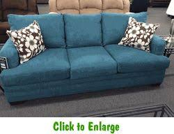Caprice Mermaid Sofa by Simmons at Furniture Warehouse