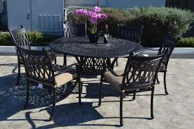 grand tuscany 7 piece dining set 6 dining chairs 1 round dining table 60