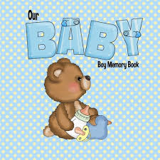 online baby photo book our baby boy memory book baby book and baby scrapbook for babys