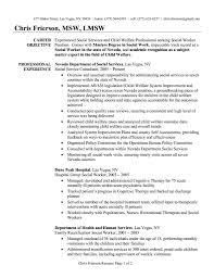 Resume For Social Worker Best Of Social Work Resume Examples Social