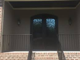 front double doorsPrivacy Roman shade for arched front double doors