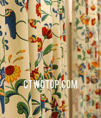 perfect colorful patterned curtains decor with chic cotton soundproof beige multi color patterned bay window curtains