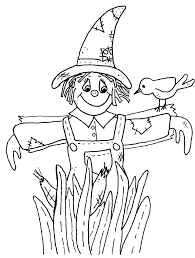 scarecrow coloring pages sheet free printable for kids sheets colouring p