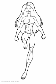 Small Picture Superhero Girl Cartoon Coloring Page Coloring Coloring Pages