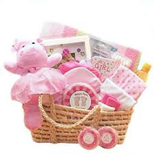 amazon for a precious new baby gift basket great shower gift idea for newborns moses basket organic baby