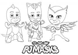 Pj Masks Coloring Pages Daniel Tiger Little Mermaid Printable For