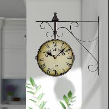 94 round double sided hanging wall clock7 home design clock lark manor 9 4 reviews wayfairf
