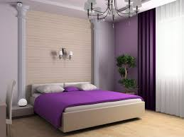 Interior:Alluring Purple Bedroom Interior Using White Window Curtains Also  Purple Blanket Plus White Wall