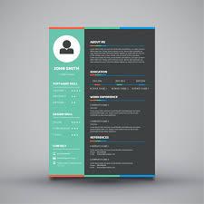 Modern Simple Curriculum Vitae Template Design Vector Premium Download