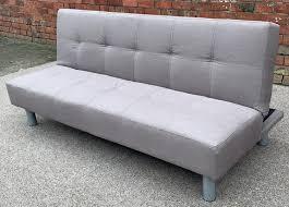 social sofa bed light grey fabric