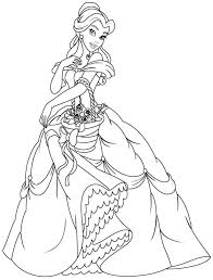 Belle Coloring Pages for Kids | omalovanky | Pinterest | Belle ...
