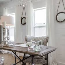 Image Chic Style Example Of Small Cottage Chic Freestanding Desk Carpeted Home Office Design In Atlanta With White Houzz 75 Most Popular Shabbychic Style Home Office Design Ideas For 2019