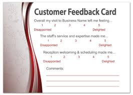 customer info card template customer survey postcard design template mpc 1037