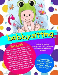 Babysitter Flyer Maker Babysitting Flyer Template Poster Templates For Flyers