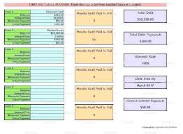 debt snowball calculator free debt snowball excel spreadsheet debt snowball calculator template