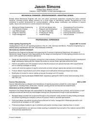 Design Mechanical Engineer Sample Resume Letter Example