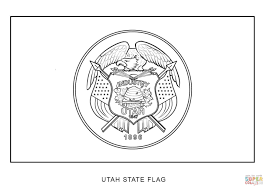 Small Picture Utah State Flag coloring page Free Printable Coloring Pages