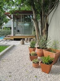Gravel Garden Design Adorable Garden Design With Gravel And Pot Plants Gardening Pinterest