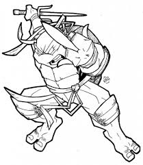 Small Picture Teenage Mutant Leonardo With Sword Ninja Turtles Coloring Pages