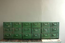 Green File Cabinet Vintage Card Catalog 18 Drawer File Cabinet Industrial Card